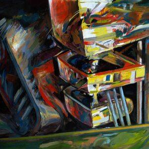 Boxed Landscape (2012) oil painting